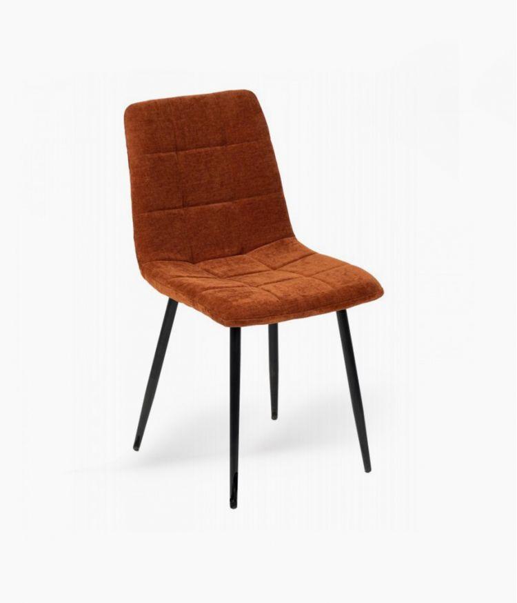 chaise manta tissu cognac h89cm