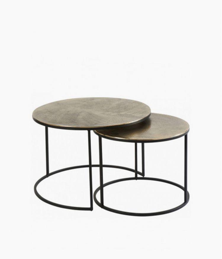 table basse palma dorée 50*50*50cm
