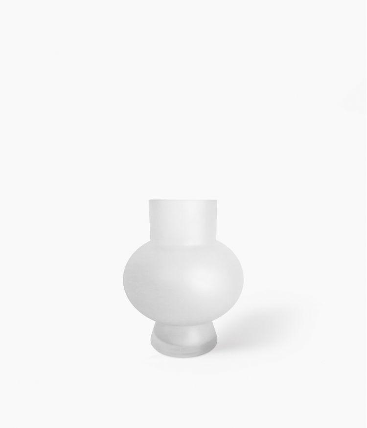 Vase Boule Petit Modèle Blanc Satiné