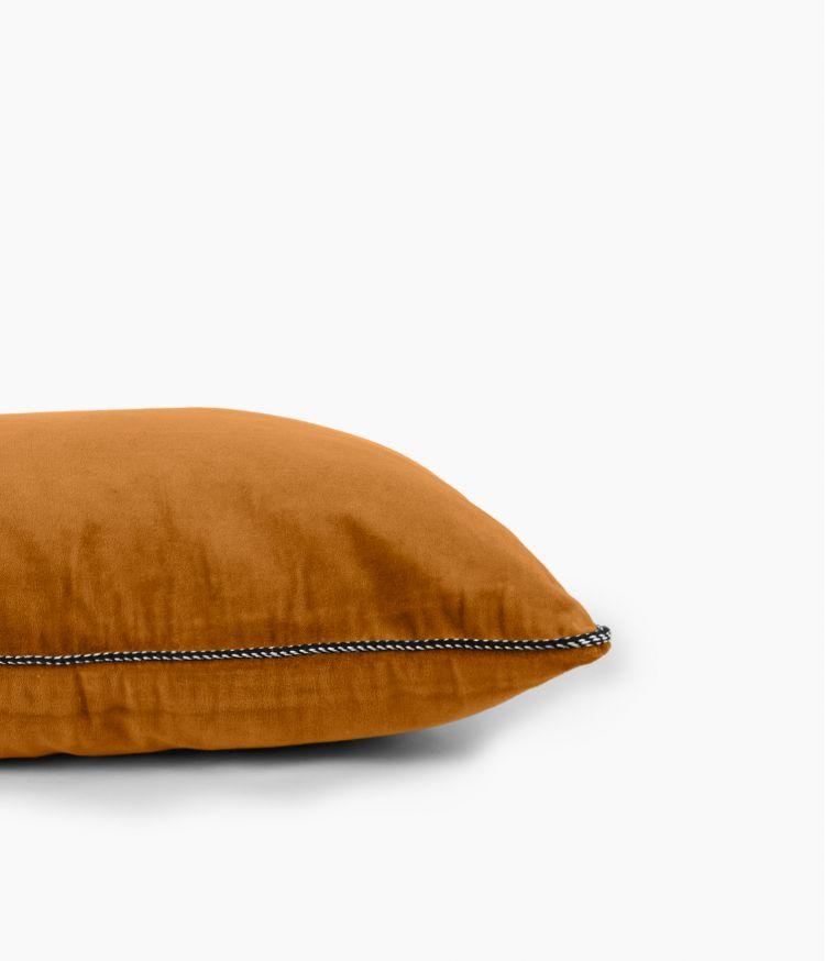 Housse de coussin 45 x 45 cm en Velours - Chamois