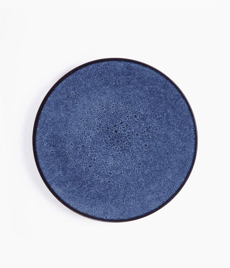 Assiette plate en Grès Bleu