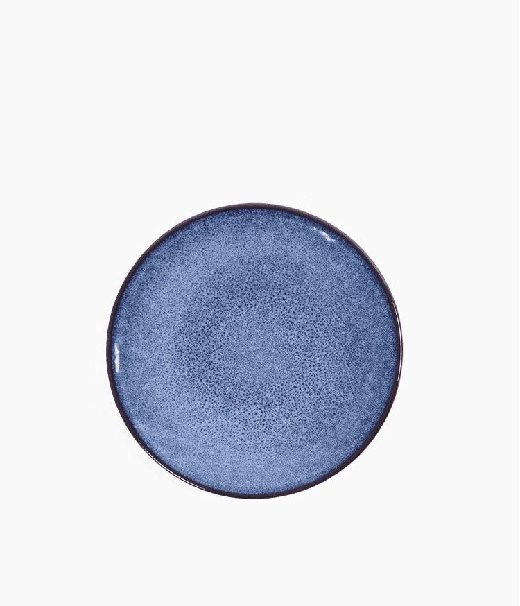 Assiette à dessert en Grès Bleu