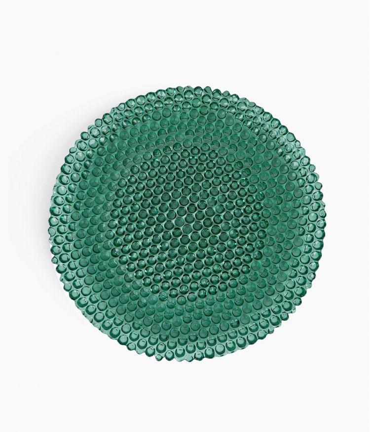 Assiette Plate Bulles Vert