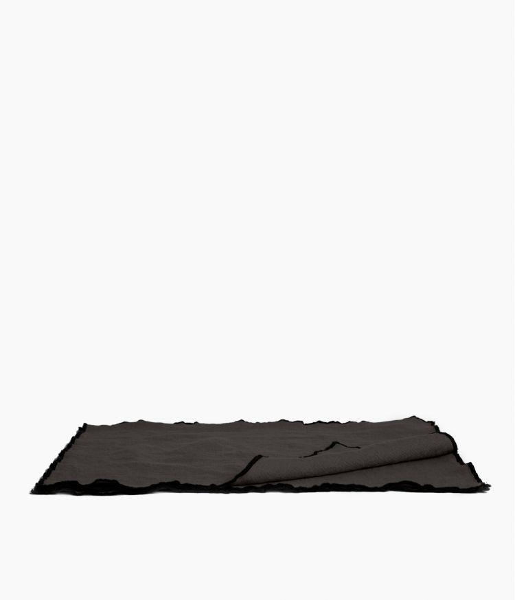 Set de table 35 x 45 cm en Lin lavé - Charbon