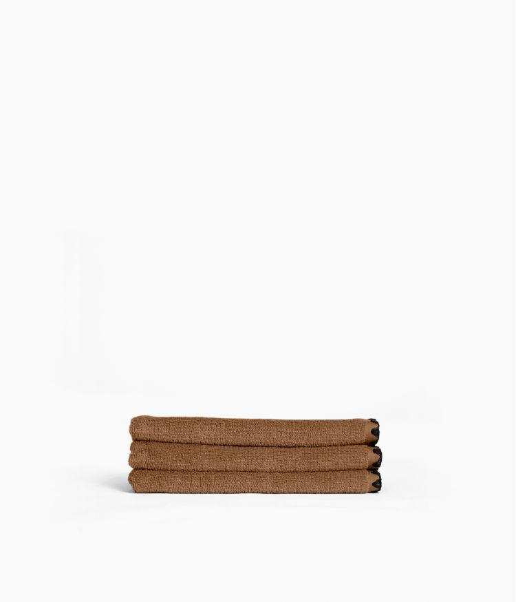 Serviette d'invité 30 x 50 cm en Coton - Tabac