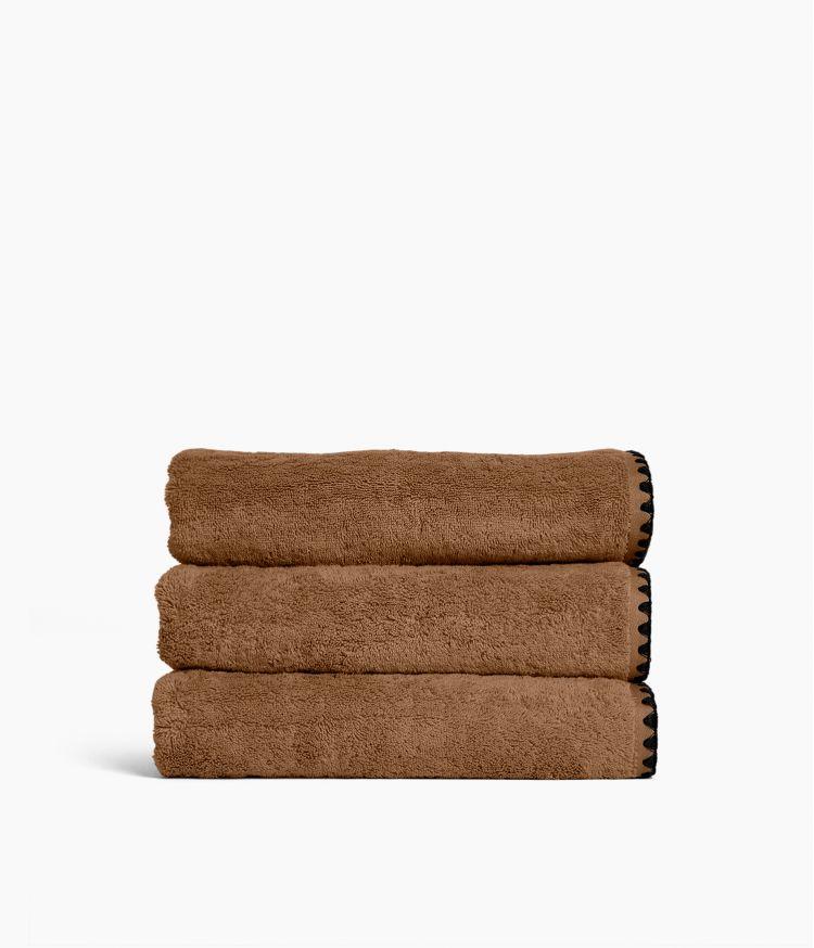 Serviette de bain 70 x 130 cm en Coton - Tabac