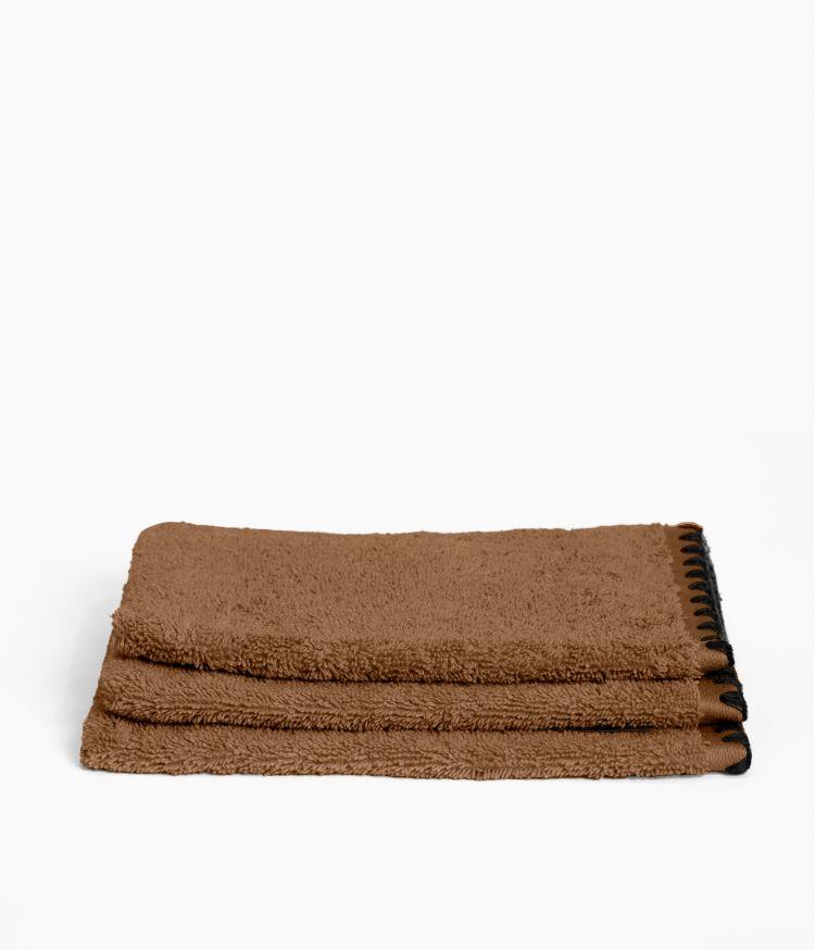 Gant de toilette en Coton 15 x 21 cm en Coton - Tabac