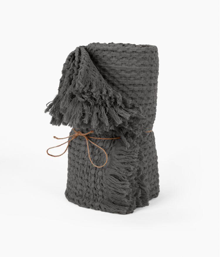 Plaid 130 x 200 cm en Coton - Granit