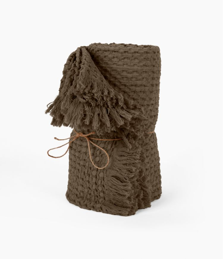 Plaid 130 x 200 cm en Coton - Brownie