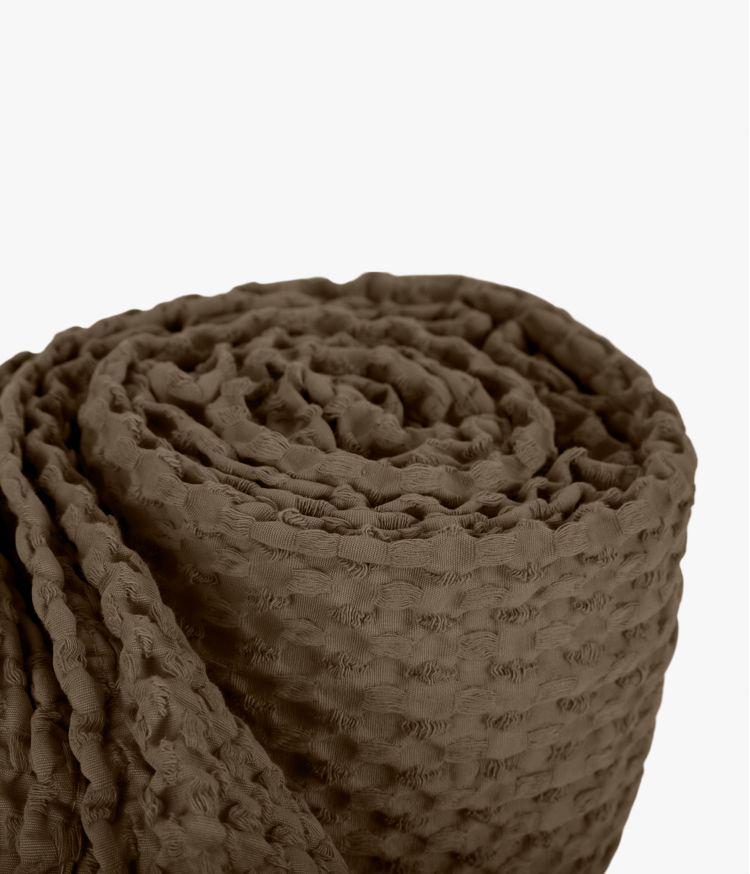 Couvre lit 180 x 260 cm en Coton - Brownie