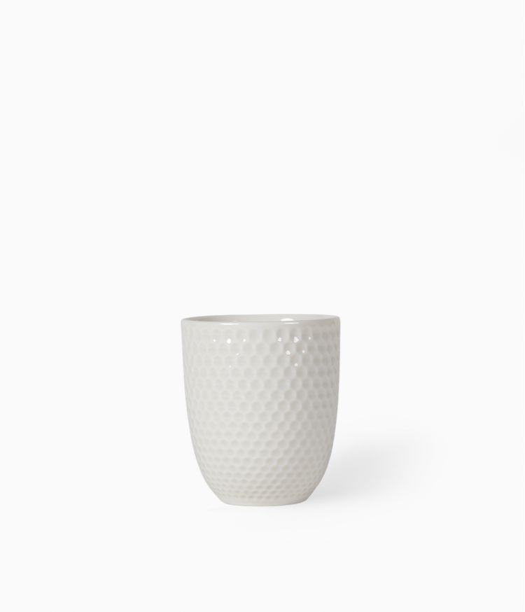 Gobelet en Porcelaine Blanc mat