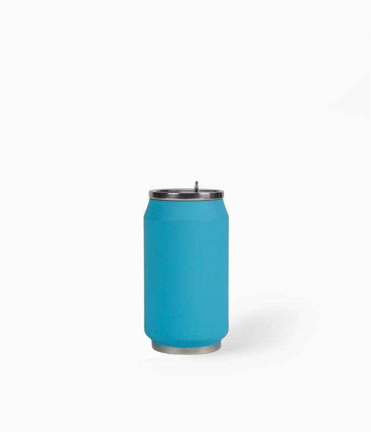 Canette isotherme 280ml Soft Touch - Turquoise