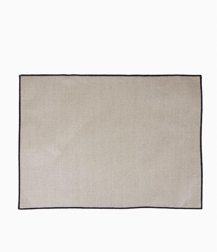 Set de table 35 x 48 cm en Lin enduit - Naturel