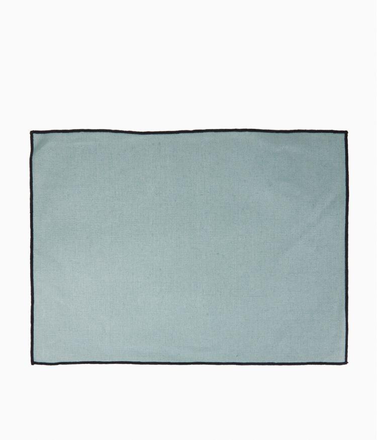 Set de table 35 x 48 cm en Lin enduit - Céladon