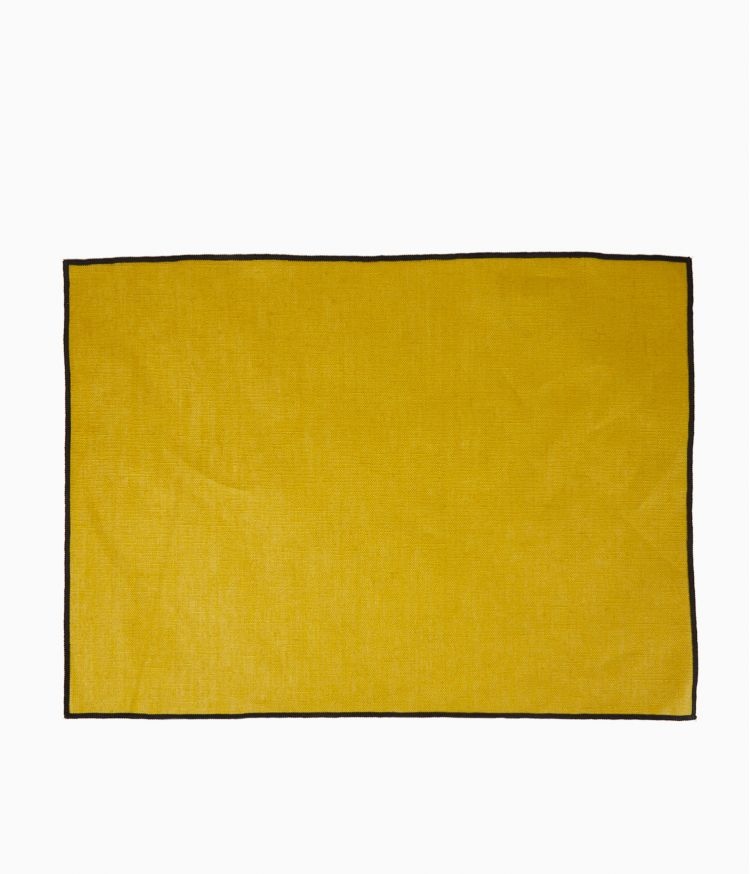 Set de table 35 x 48 cm en Lin enduit - Absinthe