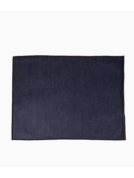 Set de table 35 x 48 cm en Lin enduit - Indigo