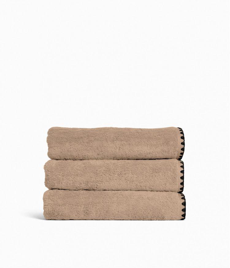 Serviette de bain  70 x 130 cm en Coton - Lin
