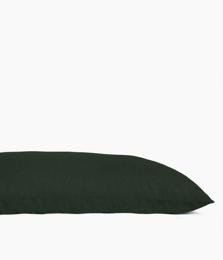 Housse de coussin 55 x 110 cm en Lin lavé - Meleze