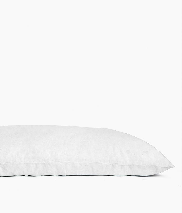 Housse de coussin 55 x 110 cm en Lin lavé - Blanc