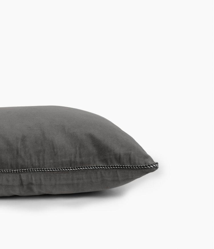 Housse de coussin 45 x 45 cm en Velours - Granit