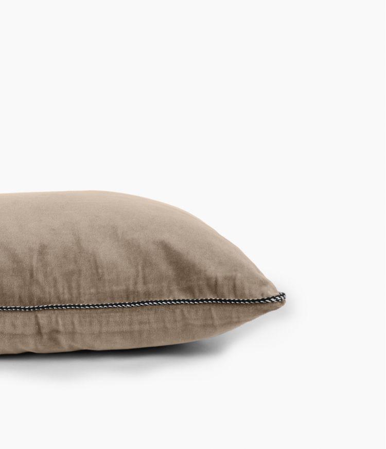 Housse de coussin 45 x 45 cm en Velours - Craie