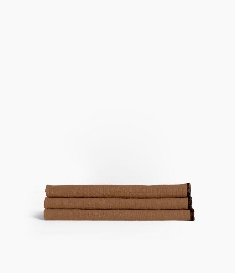 serviette de table 41*41 tabac
