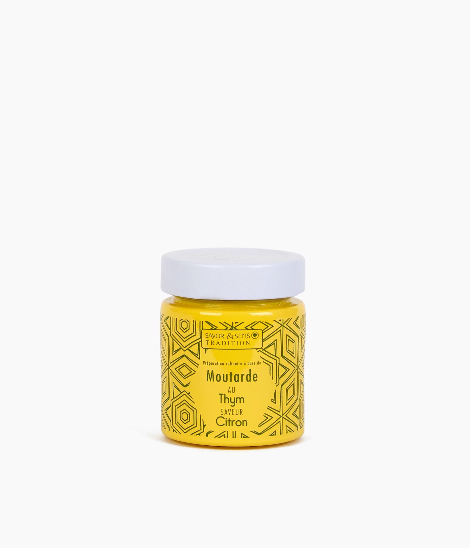 moutarde pot jaune citron thym