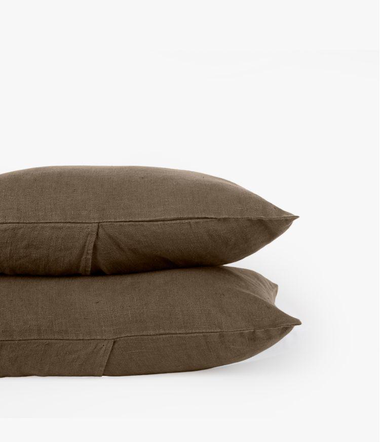 Housse de coussin 40 x 60 cm en Lin lavé - Brownie