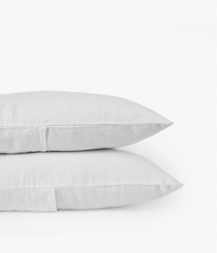 Housse de coussin 40 x 60 cm en Lin lavé - Blanc
