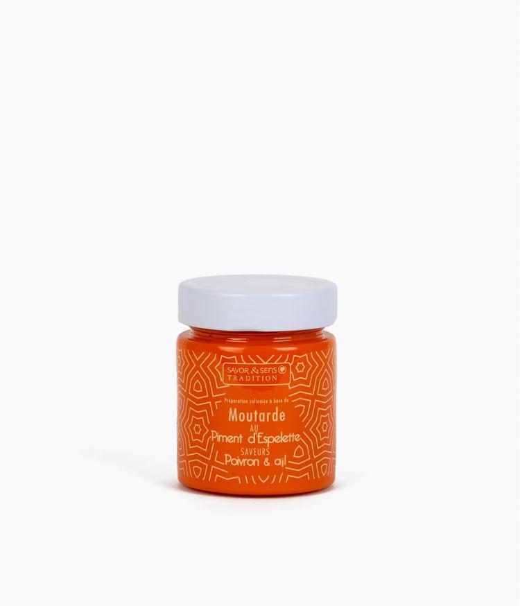 moutarde pot orange piment d'espelette poivron ail