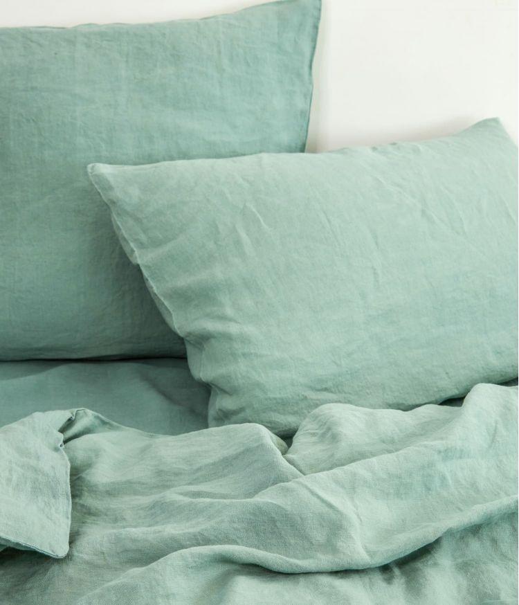 housse edredon 85*200 celadon