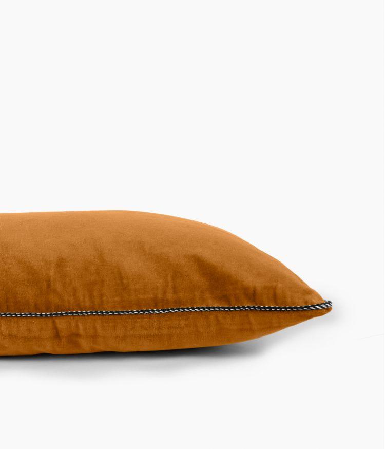 Housse de coussin 40 x 60 cm en Velours - Chamois