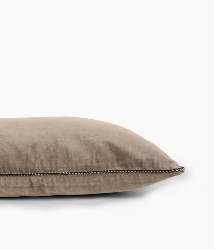 Housse de coussin 40 x 60 cm en Velours - Craie