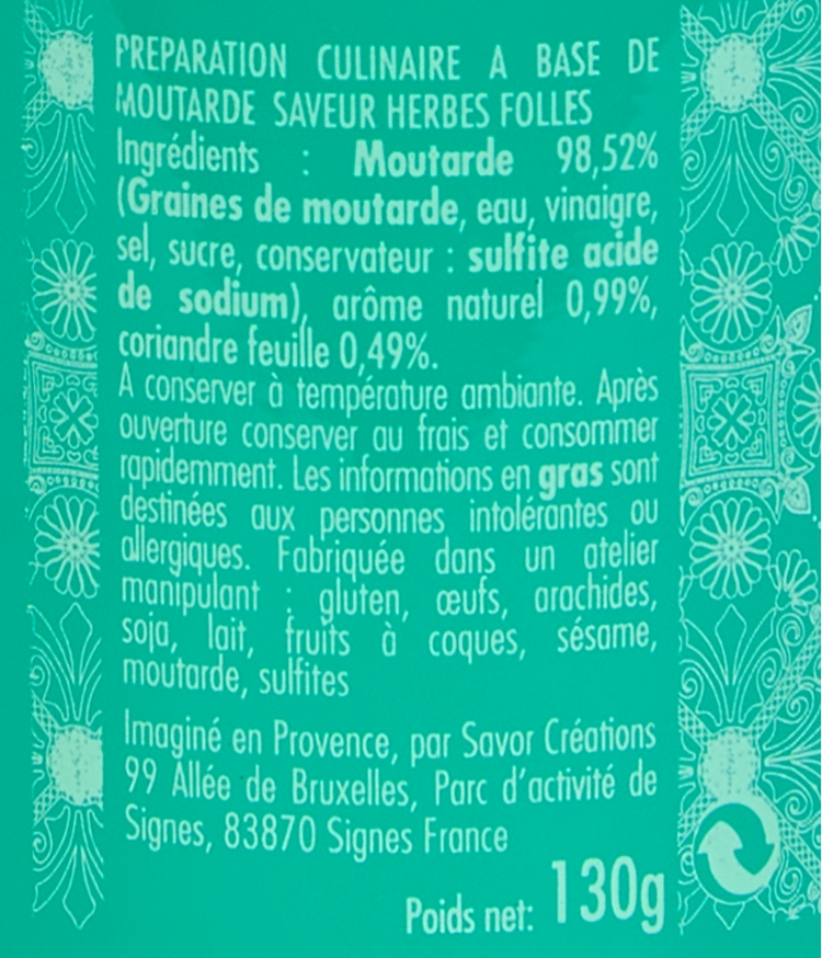 moutarde herbes folles