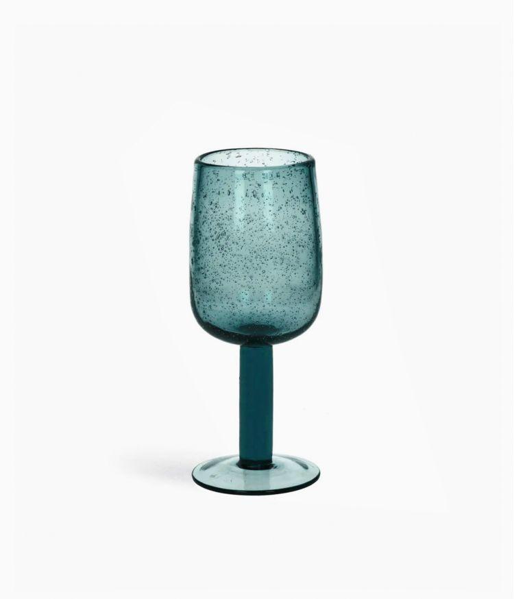 Verre à pied en verre Aqua