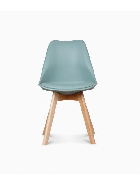 Chaise design scandinave - Vert thym