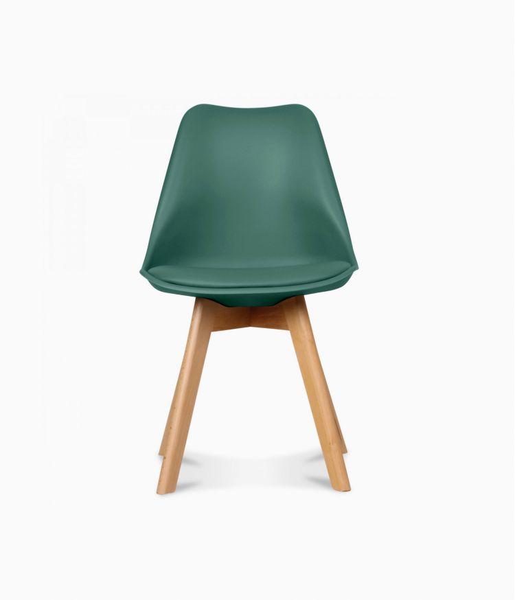 Chaise design scandinave - Vert pin