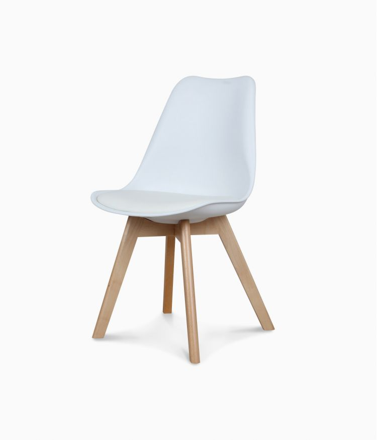 Chaise design scandinave - Blanche