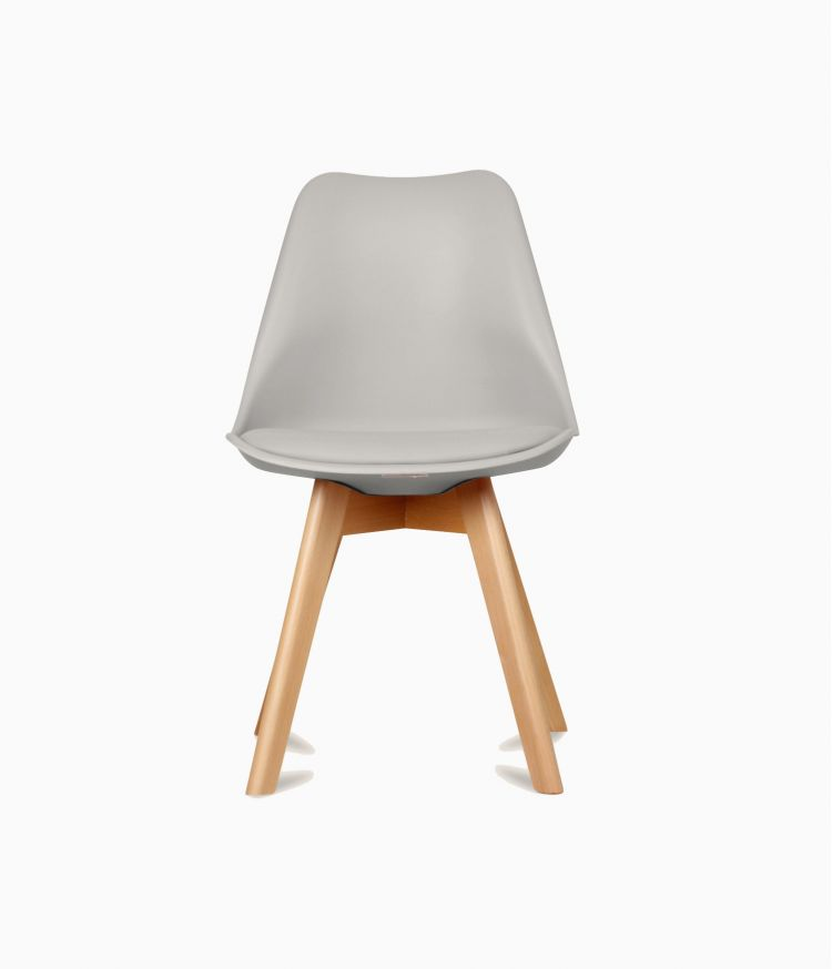 Chaise design scandinave - Taupe