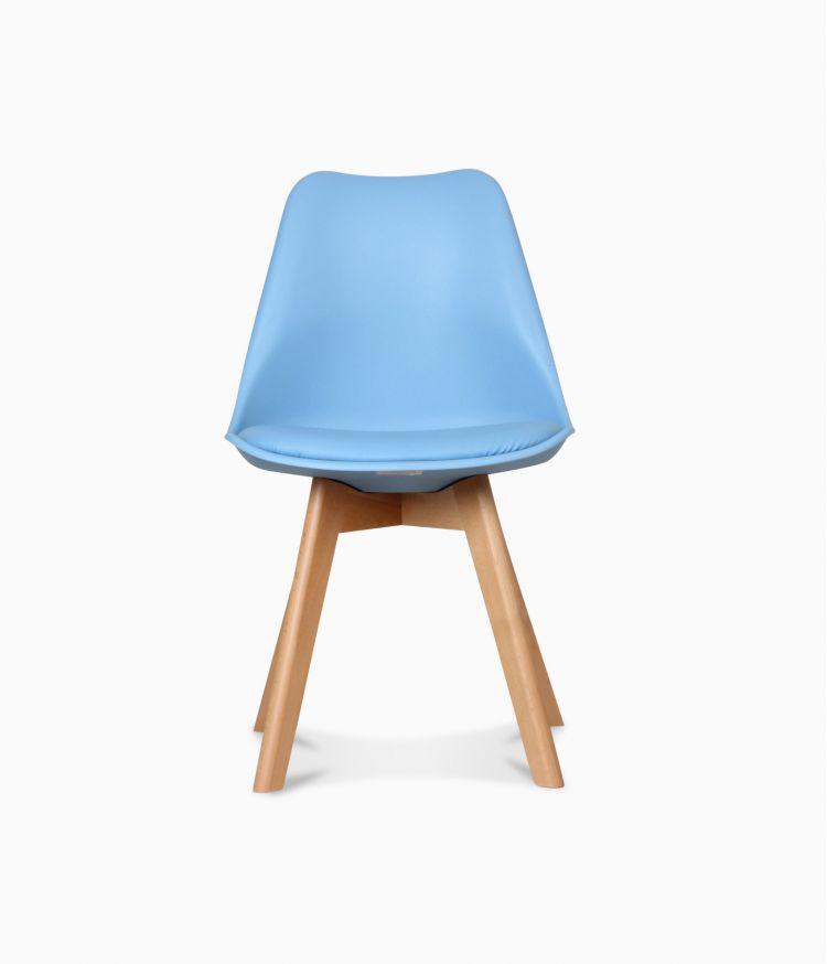 Chaise design scandinave - Bleu adriatic