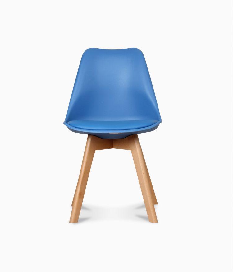 Chaise design scandinave - Bleu midnight