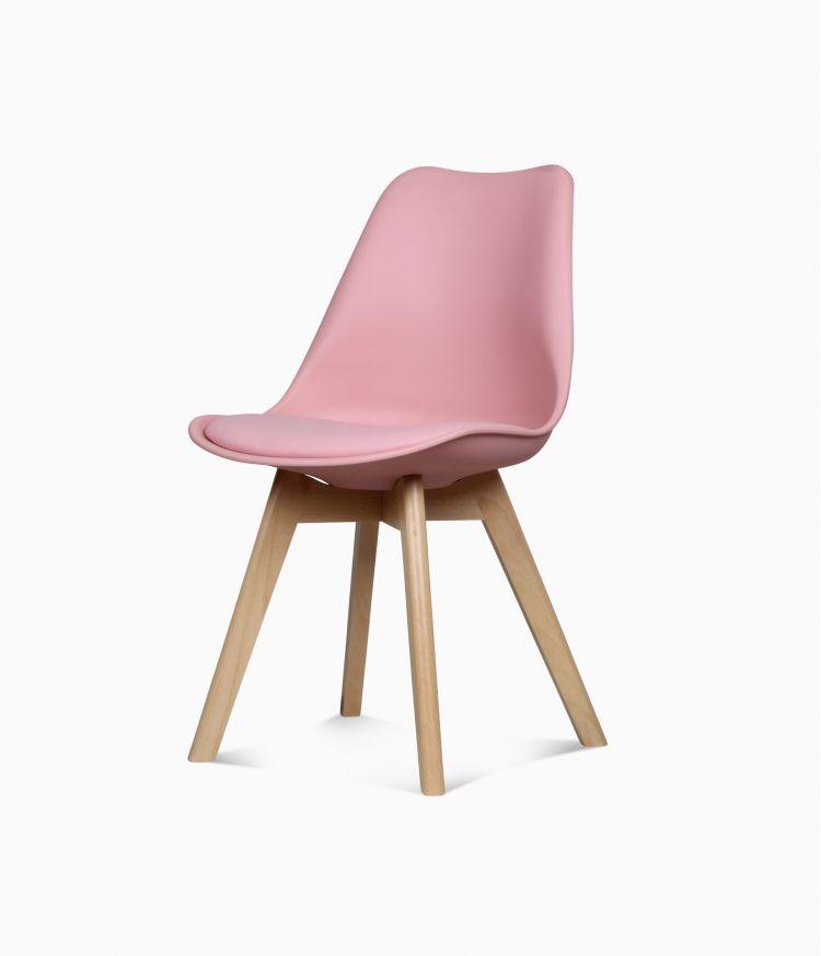 Chaise design scandinave - Rose