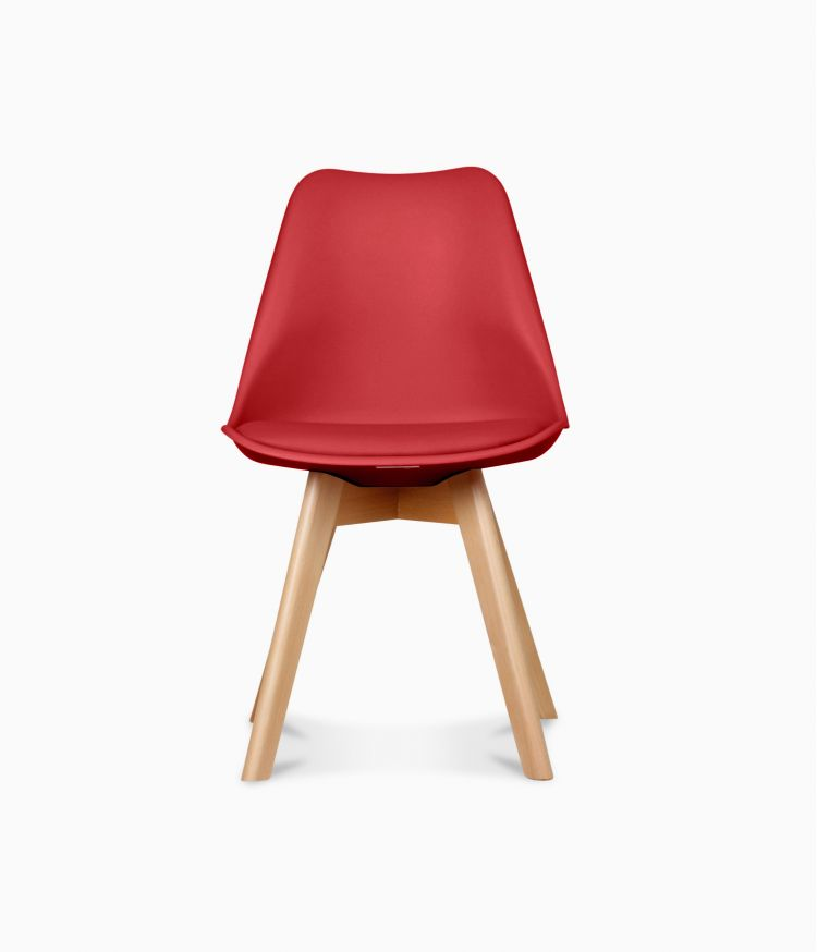 Chaise design scandinave - Rouge