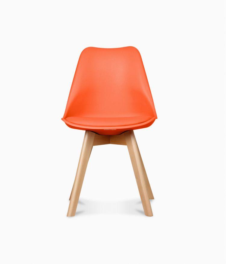 Chaise design scandinave - Orange