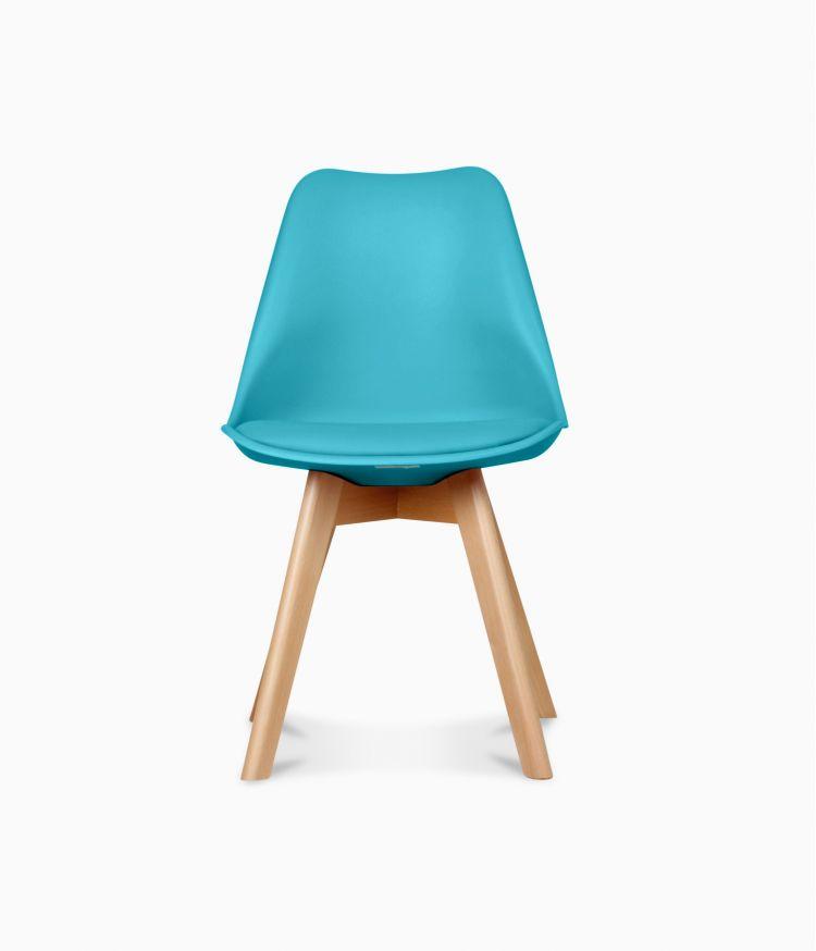 Chaise design scandinave - Bleu