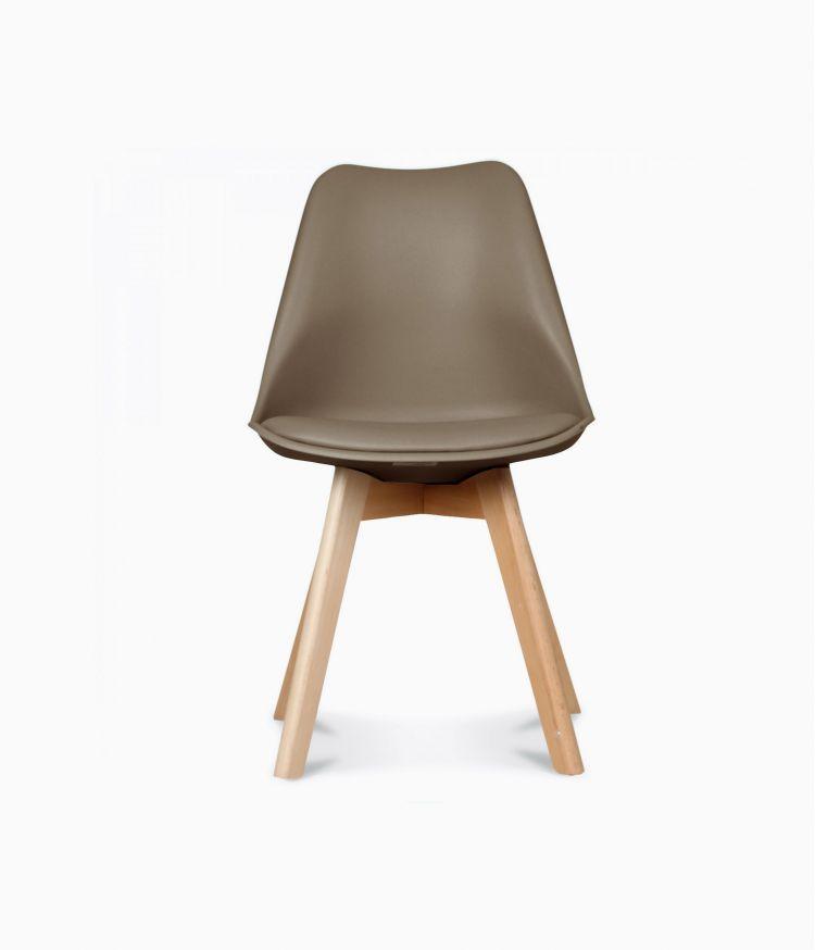 Chaise design scandinave - Café au lait