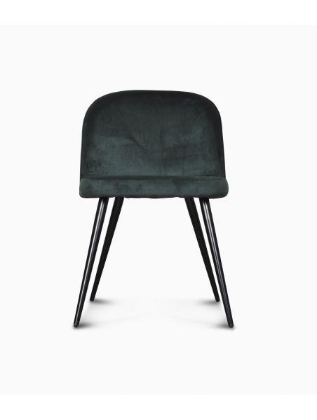Chaise Ingrid en velours - Vert menthe