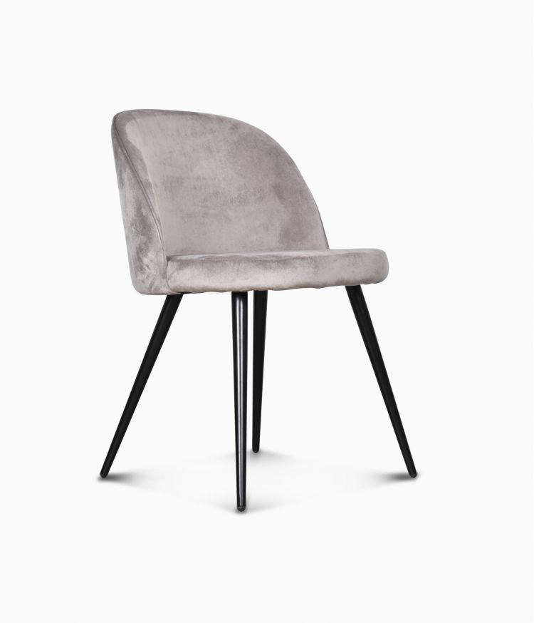 Chaise Ingrid en velours - Taupe