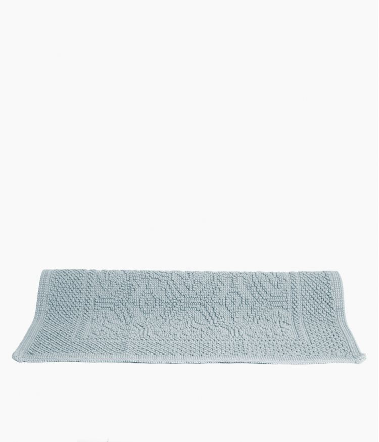 tapis de bain 60*60 bleu stone