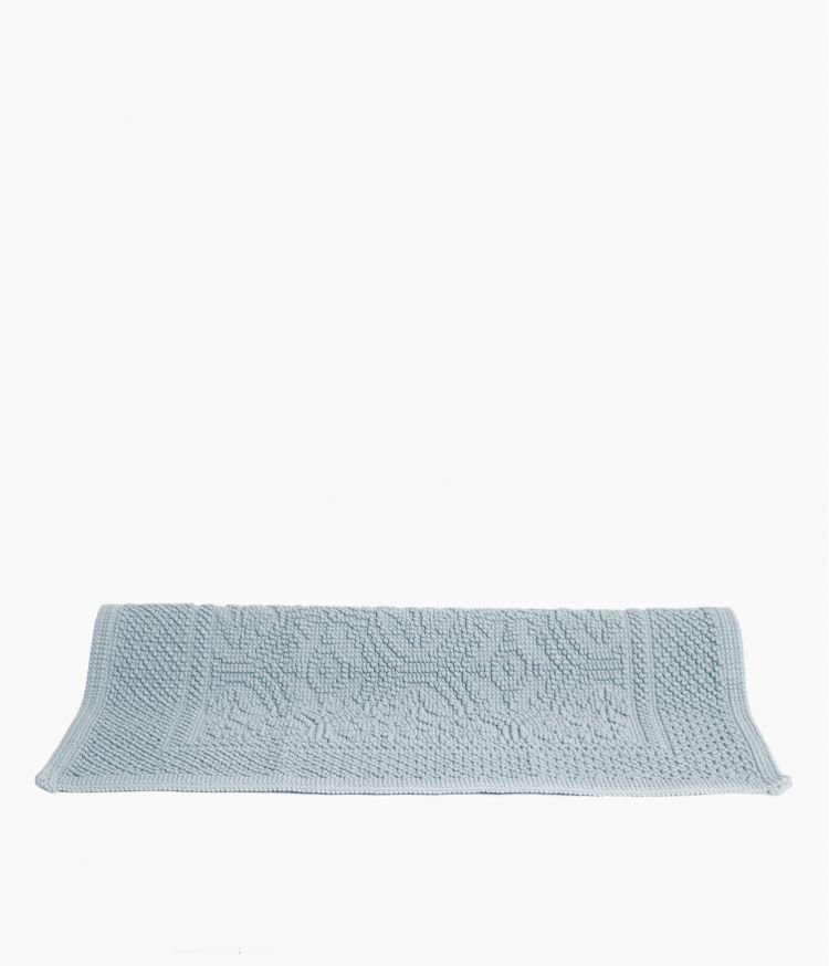 tapis de bain 55*110 bleu stone